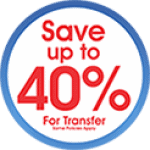 Save Up to 40% for tranfer